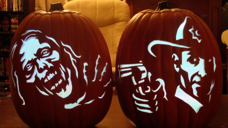 Mesmerizing image in walking dead pumpkin stencils printable