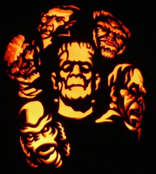 The gallery for gt zombie pumpkin stencils