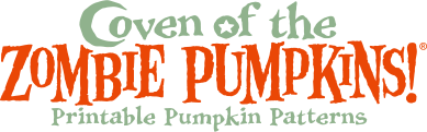 Coven of the Zombie Pumpkins! Printable Pumpkin Patterns