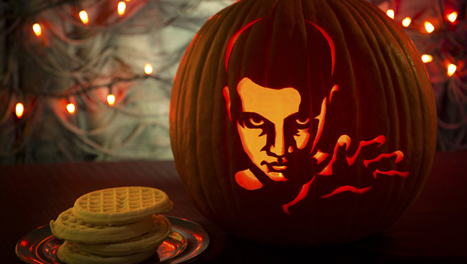 Stranger Things pumpkin carving