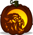 American Werewolf in London pumpkin pattern