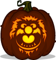 Animal pumpkin pattern