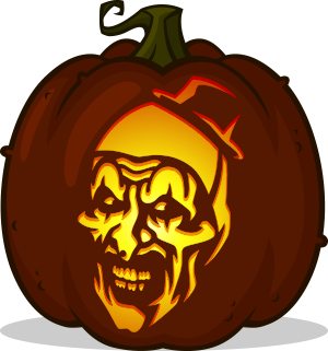Art the Clown pumpkin pattern - Terrifier