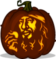 Captain Barbossa pumpkin pattern