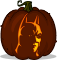 Batman pumpkin pattern