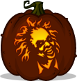 Beetlejuice pumpkin pattern
