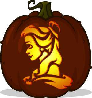 Belle pumpkin pattern