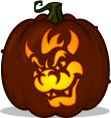 Bowser pumpkin pattern