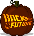 Back to the Future Logo pumpkin pattern