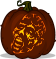 Burnt Walker pumpkin pattern