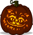 Cheshire Cat pumpkin pattern - Alice in Wonderland