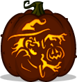 Cackle Lantern pumpkin pattern