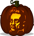 Johnny Cash pumpkin pattern
