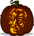 Cemetery Zombie pumpkin pattern - Night of the Living Dead