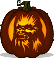 Chewbacca pumpkin pattern