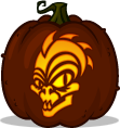 Chupacabra pumpkin pattern