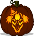 Dementia the Clown pumpkin pattern