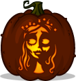 Corpse Bride pumpkin pattern
