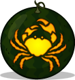 Crab pumpkin pattern