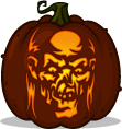 Crypt Keeper pumpkin pattern