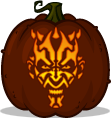 Darth Maul pumpkin pattern
