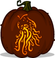 Davy Jones pumpkin pattern