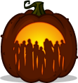 Dawn of the Dead pumpkin pattern