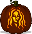 Living Dead Girl pumpkin pattern