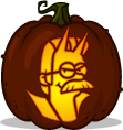 Devil Flanders pumpkin pattern