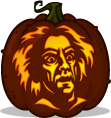Doc Brown pumpkin pattern