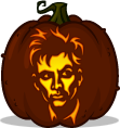 The 10th Doctor pumpkin pattern