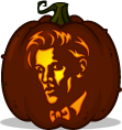 The 11th Doctor pumpkin pattern