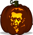 Count Dracula pumpkin pattern