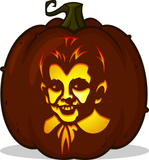 Eddie Munster pumpkin pattern - The Munsters