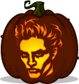 Edward Cullen pumpkin pattern