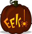 Eek! pumpkin pattern