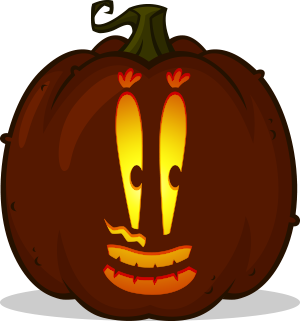 Mr. Krabs Face pumpkin pattern
