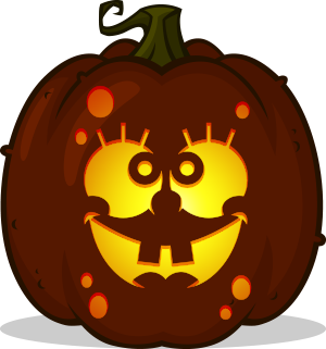 SpongeBob Face pumpkin pattern