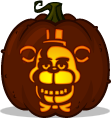 Freddy Fazbear pumpkin pattern