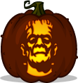 Frankenstein's Monster pumpkin pattern
