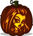 Frankie Stein pumpkin pattern - Monster High