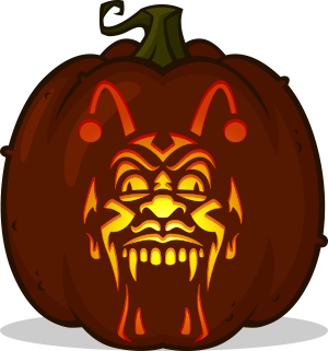 Freak Show pumpkin pattern