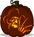 Freddy Krueger pumpkin pattern - A Nightmare on Elm Street