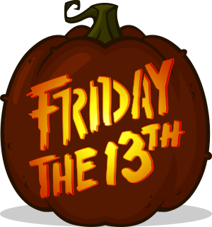 Friday the 13th Logo pumpkin pattern