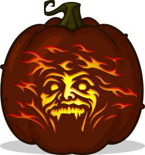 Fright Night pumpkin pattern