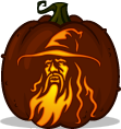 Gandalf the Grey pumpkin pattern