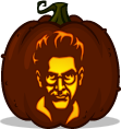 Egon Spengler pumpkin pattern - Ghostbusters
