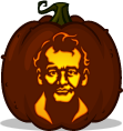 Peter Venkman pumpkin pattern