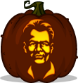 Ray Stantz pumpkin pattern