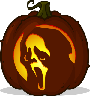 Ghostface pumpkin pattern